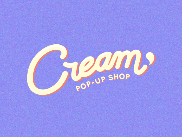 Cream Pop-Up Shop Logo designed by Madison Reid